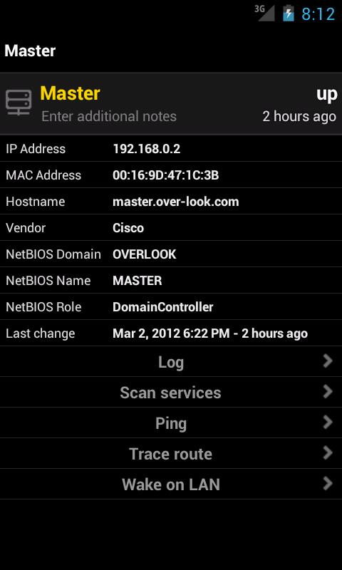 Fing - Network Tools - screenshot