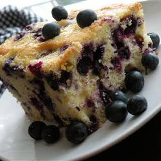 Melt In Your Mouth Blueberry Cake.