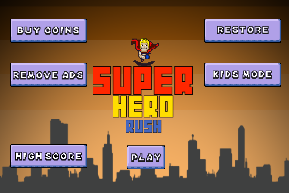 Super Hero Rush- screenshot