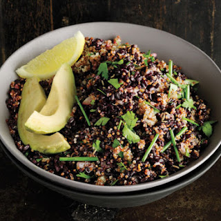Cumin-Scented Quinoa and Black Rice.
