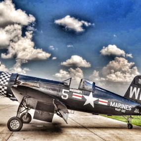 WWII F4U-4 B Corsair #5 by Jason Arand - Transportation Airplanes