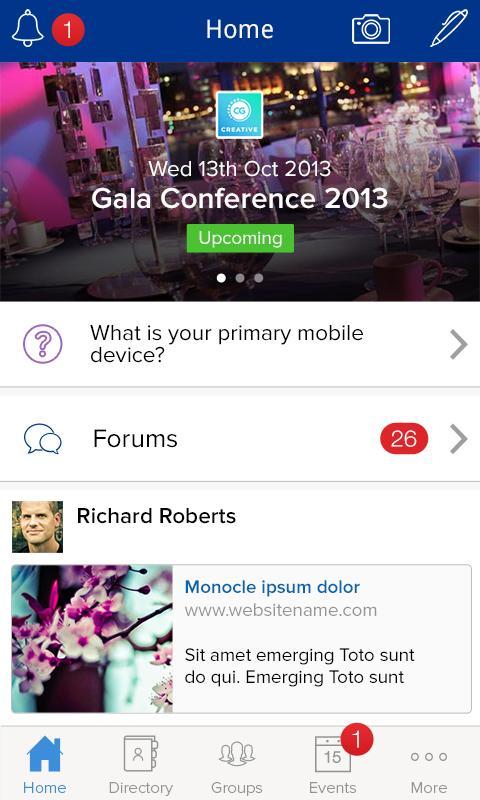 CampusGroups- screenshot