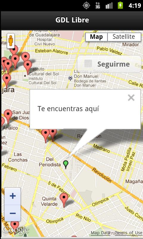 GDL Free Wifi Hotspots - screenshot