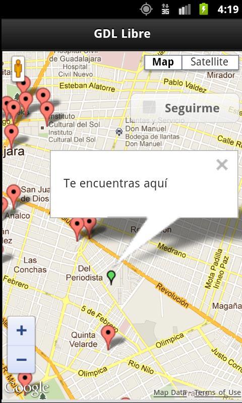 GDL Free Wifi Hotspots - screenshot