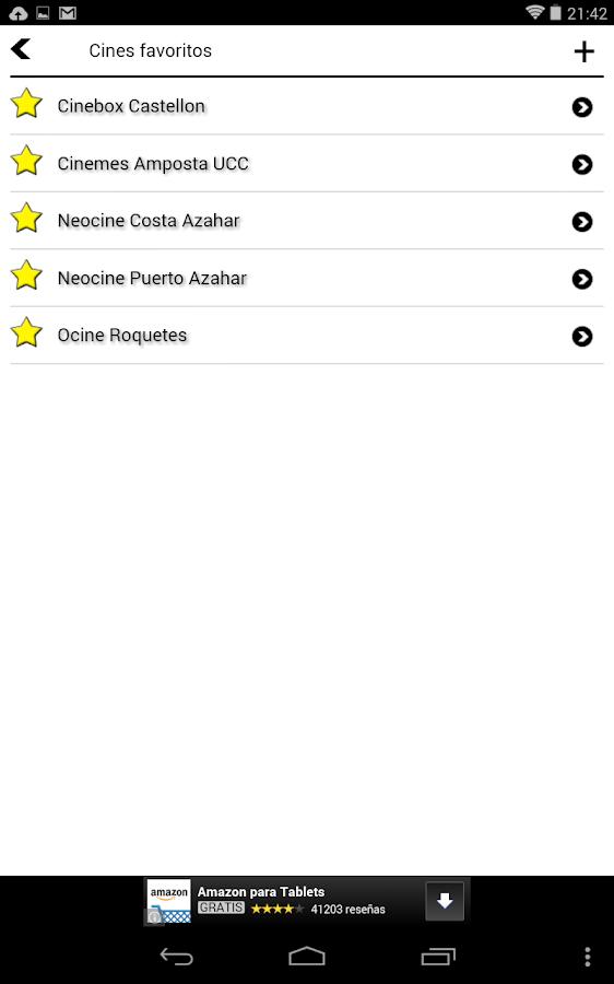 Cine Cartelera - screenshot