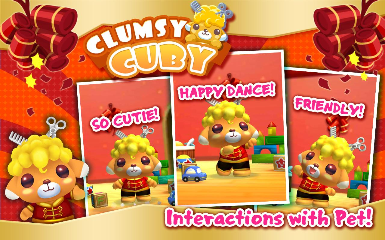 Clumsy Cuby - Interactive Pet - screenshot