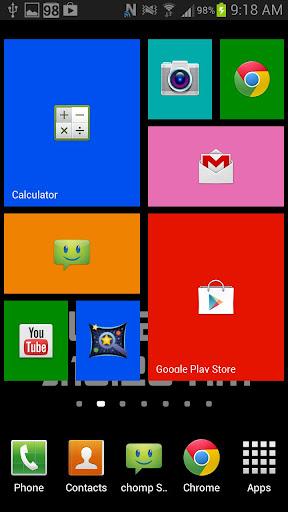 WP8 Widget Launcher Windows 8