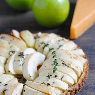 Savory Apple Tart with Gouda Crust