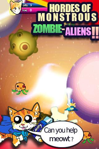Galaxy Cat vs Zombie Aliens