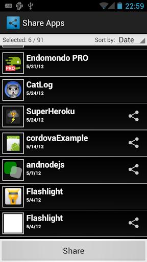 共享应用程序 (共享很多)