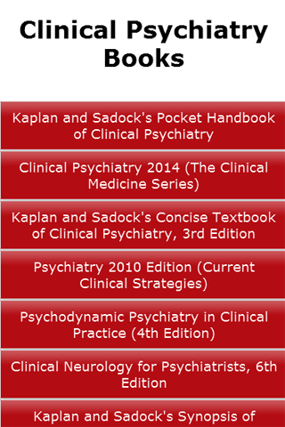 Clinical Psychiatry Books