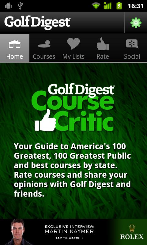 Golf Digest Course Critic - screenshot