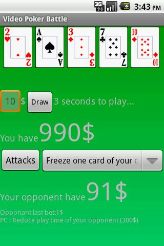 Video Poker Battle- screenshot