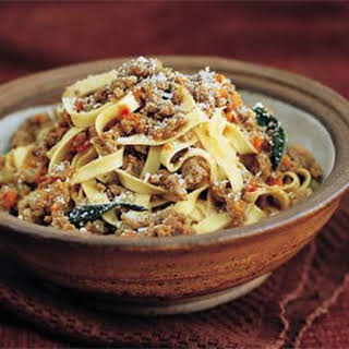 Pasta with Bolognese Sauce.