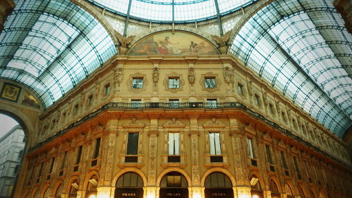 Galleria Vittorio Emanuele II, a shopping arcade in Milan, Italy.