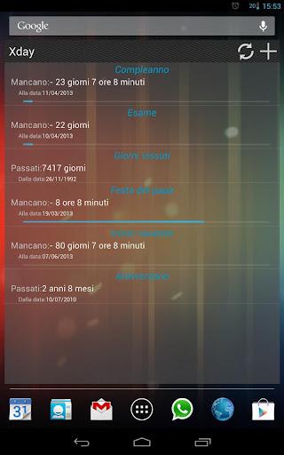 Xday, il conto alla rovescia per tutti gli eventi importanti su Android