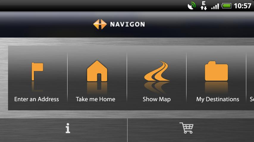 NAVIGON Samsung Australia - screenshot