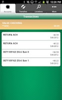 Screenshot of UCB Mobile Banking