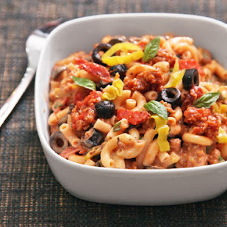 Fully Loaded Pizza Macaroni and Cheese.