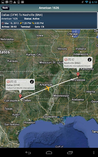 Nashville Airport + Radar BNA