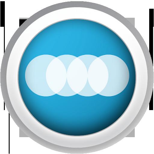 Modern Circle White - FN Theme LOGO-APP點子