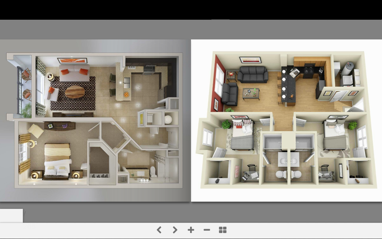 3d Home Floor Plan tiny house floor plans small residential unit 3d floor plan 3d floor plans 3d Home Plans Screenshot