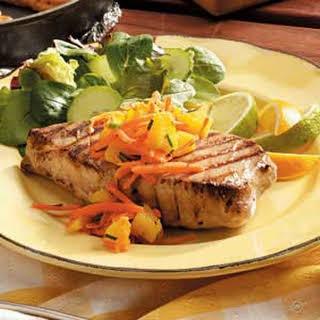 Tuna Steaks with Salsa.