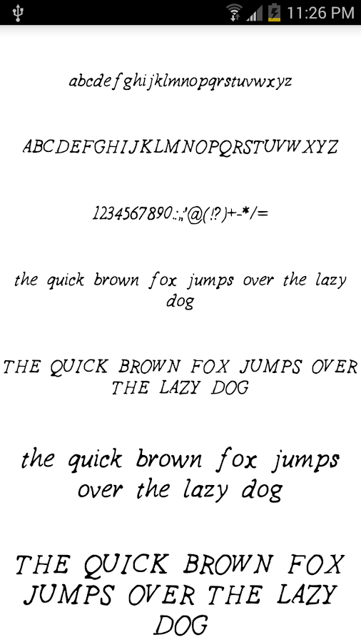 Fonts for FlipFont #15- screenshot