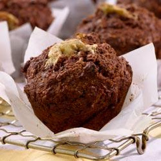 Low-Fat All-Bran Banana-Cocoa Muffins.