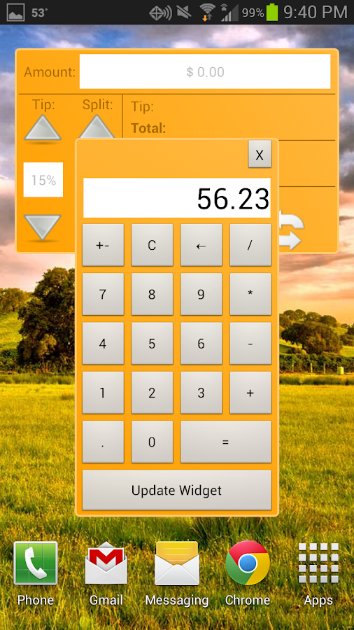 Tip Calculator Widgets - screenshot