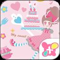 Cute Theme-Sweet Cake- icon