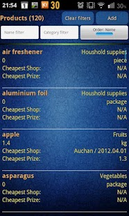 Easy Android Shopping List Pro - screenshot thumbnail