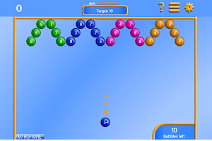 Screenshot of Bubble Pop Number Bonds Free