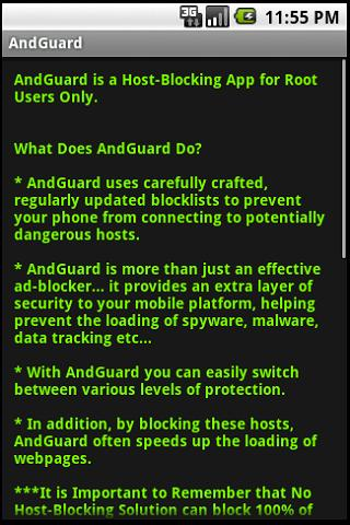 AndGuard for Root - screenshot