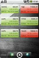 Screenshot of Stock Watcher