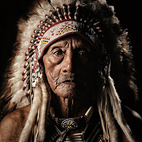 The Old Warrior by Lucky E. Santoso - People Portraits of Men