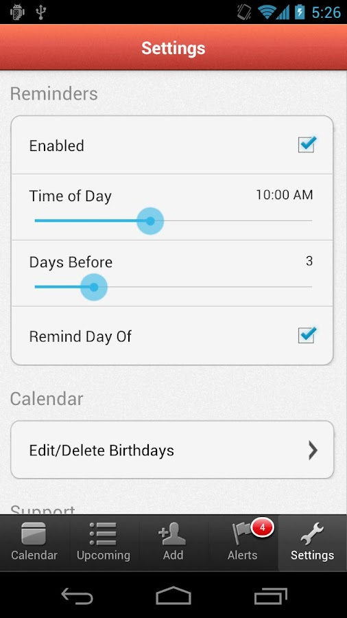 MyCalendar- screenshot