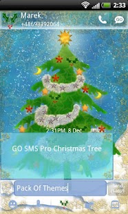 Christmas Theme for GO SMS- screenshot thumbnail