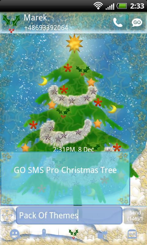 Christmas Theme for GO SMS- screenshot