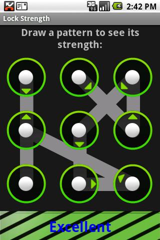 Lock Pattern Strength- screenshot