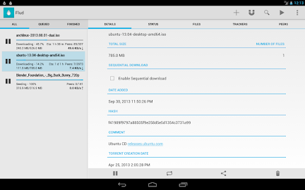 Flud - Torrent Downloader Screenshot 2
