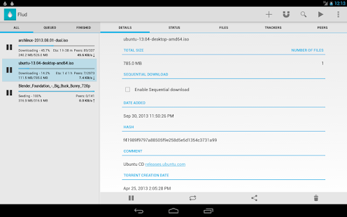Flud - Torrent Downloader Screenshot 16