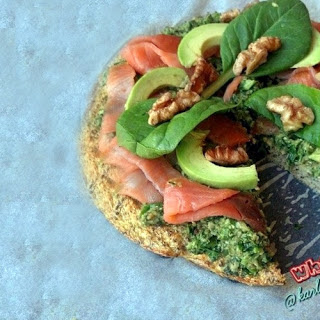 Smoked Salmon Pesto Paleo Pizza Recipe