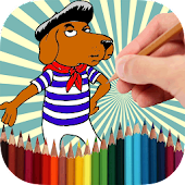 Coloring Book Funny Dogs