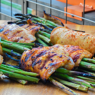 BBQ Chicken-Wrapped Asparagus.