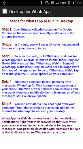 Dual for WhatsApp Steps