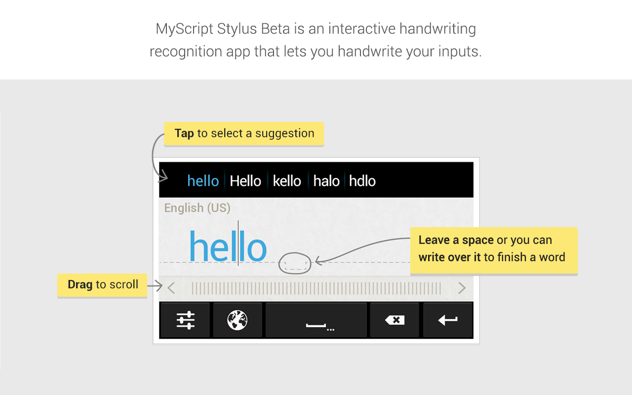 MyScript Stylus (Beta) - screenshot