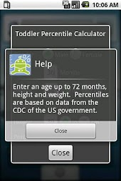 Toddler Percentile Calculator