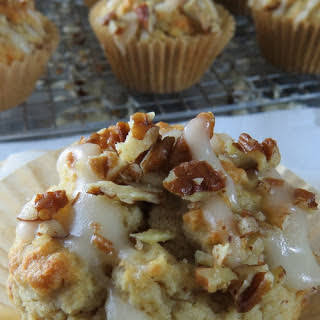 Low Carb Maple Bacon Pecan Muffins.