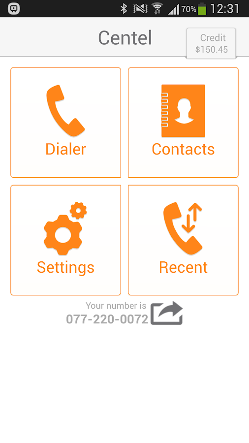 Centel - International Calling - screenshot